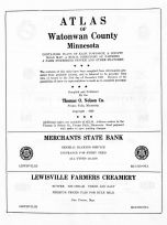 Title Page, Watonwan County 1959